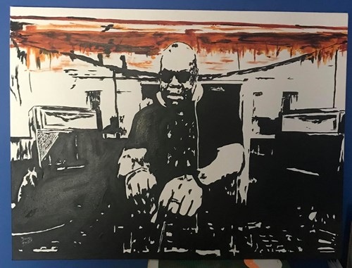 Carl Cox Painting